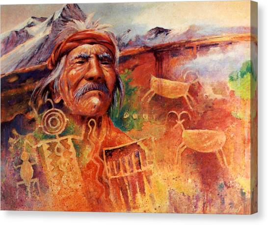 Rock Art Canvas Print by Don Trout