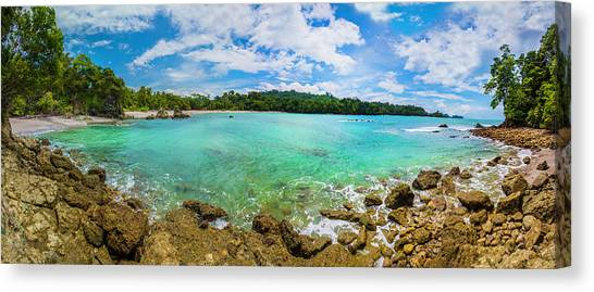 Canvas Print featuring the photograph Rock Beach At Manuel Antonio National Park by Owen Weber