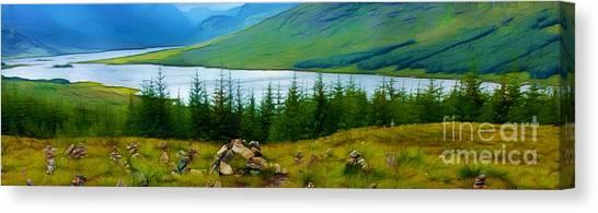 Rock Cairns In Scotland Canvas Print