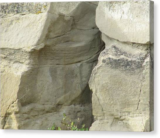 Rock Cleavage Canvas Print