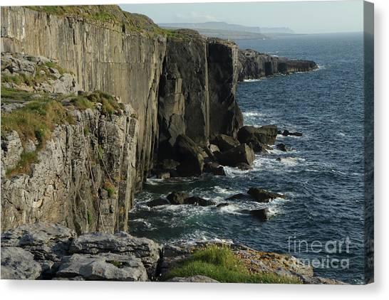 Rock Climbing Burren Canvas Print