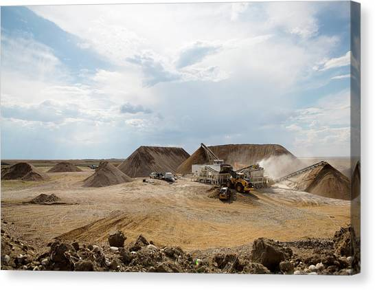 Canvas Print featuring the photograph Rock Crushing 2 by David Buhler