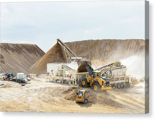Canvas Print featuring the photograph Rock Crushing 3 by David Buhler