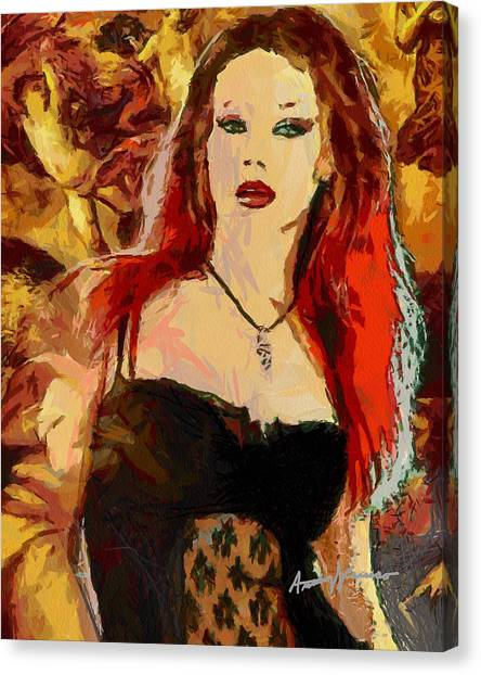Rock Diva Canvas Print by Anthony Caruso
