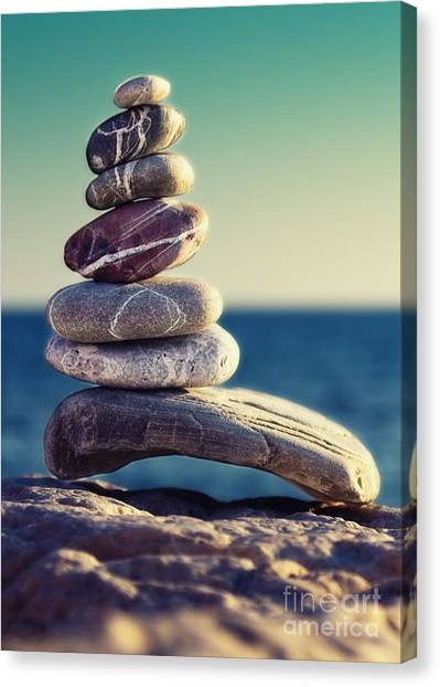 Peace Tower Canvas Print - Rock Energy by Stelios Kleanthous