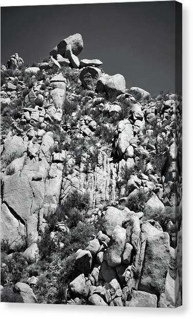 Rock Face Sandia Mountain Canvas Print