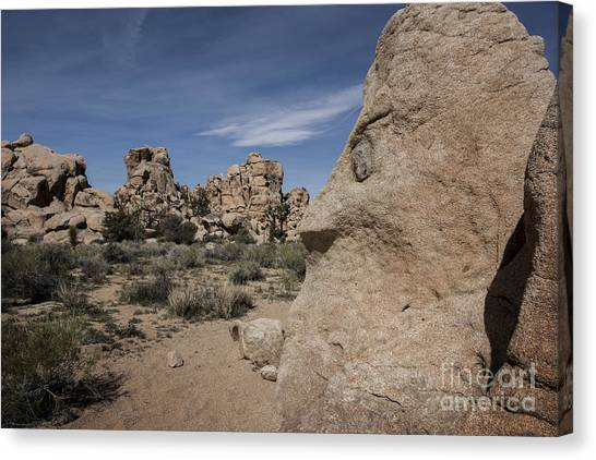 Mojave Desert Canvas Print - Rock Formation At Joshua Tree National Park by Juli Scalzi
