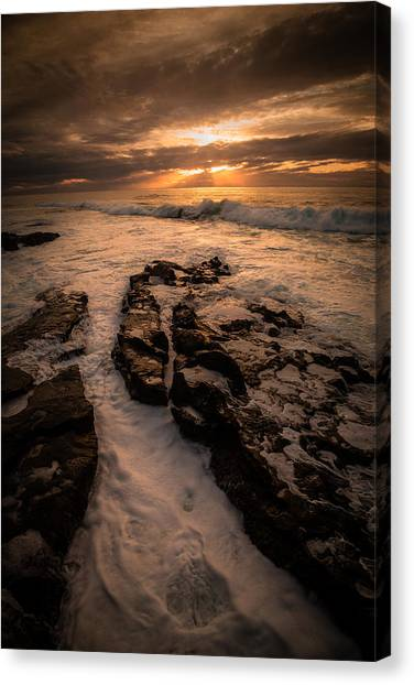 Rock Formations On The Shore Canvas Print