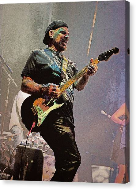 Rock Guitar Player Canvas Print