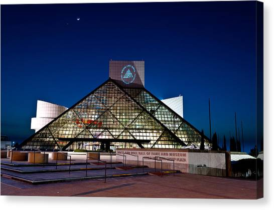 Rock Hall At Night Canvas Print