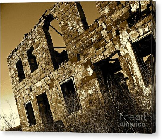 Rock House Ruins Canvas Print by Chuck Taylor