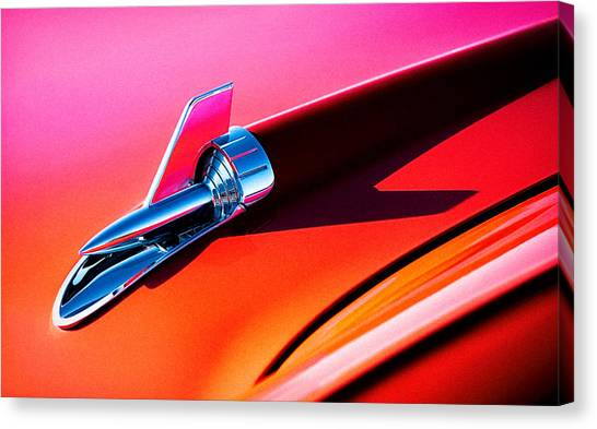 Vintage Hood Ornament Canvas Print - Rock It by Douglas Pittman