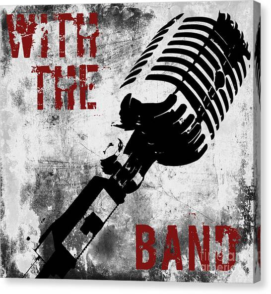 Percussion Instruments Canvas Print - Rock N Roll Microphone  by Mindy Sommers