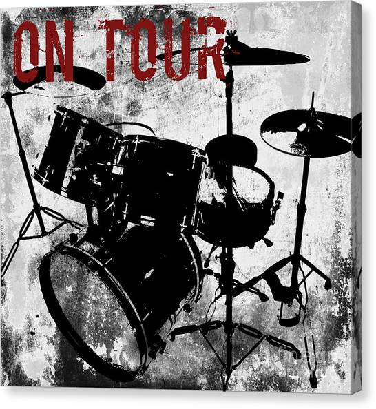 Percussion Instruments Canvas Print - Rock N Roll Percussion  by Mindy Sommers
