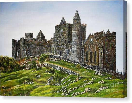 Rock Of Cashel Ireland Canvas Print by Avril Brand