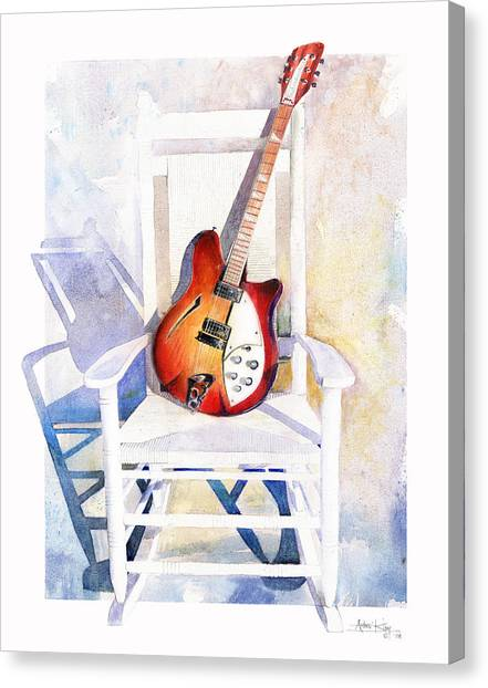 Electric Guitars Canvas Print - Rock On by Andrew King