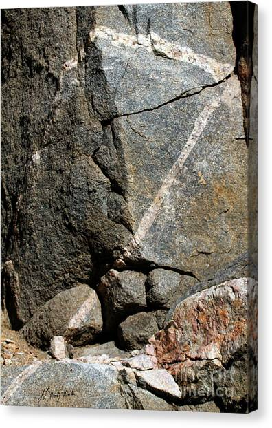 Rock Patterns-signed-#9753 Canvas Print