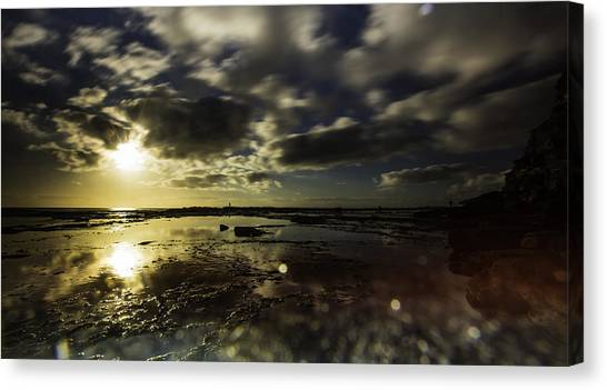 Rock Pool Sunrise Canvas Print