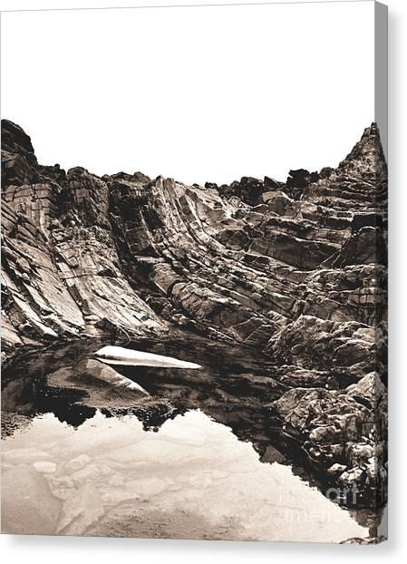 Rock - Sepia Detail Canvas Print