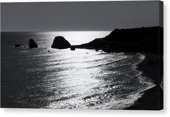 Rock Silhouette Canvas Print