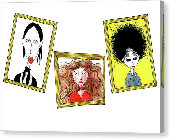 Robert Smith Music Canvas Print - Rock Stars  by Andrew Hitchen