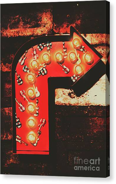 Neon Canvas Print - Rock Through This Way by Jorgo Photography - Wall Art Gallery