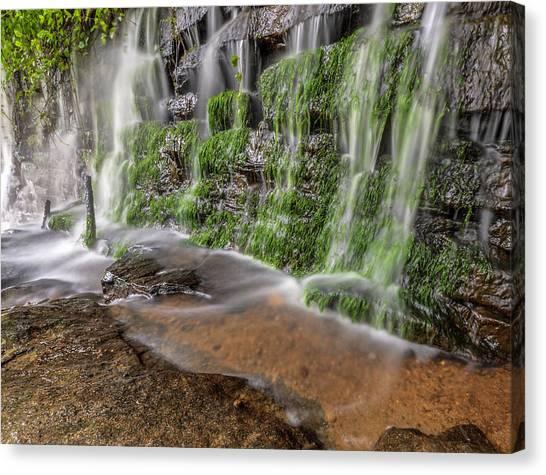 Rock Wall Waterfall Canvas Print