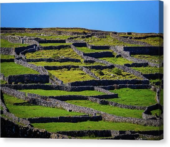 Canvas Print featuring the photograph Rock Walls Of Inisheer, Aran Islands by James Truett