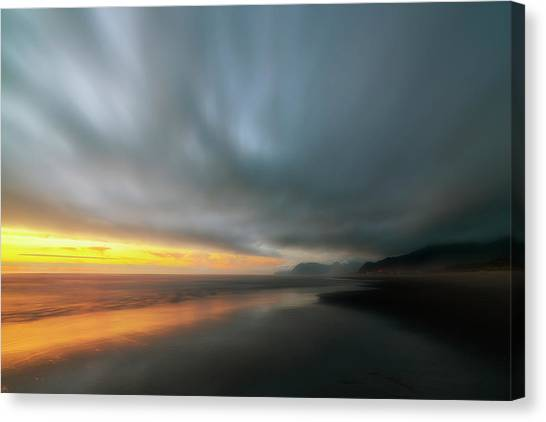 Rockaway Sunset Bliss Canvas Print