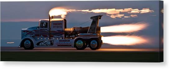 Rocket Truck At Dusk Canvas Print