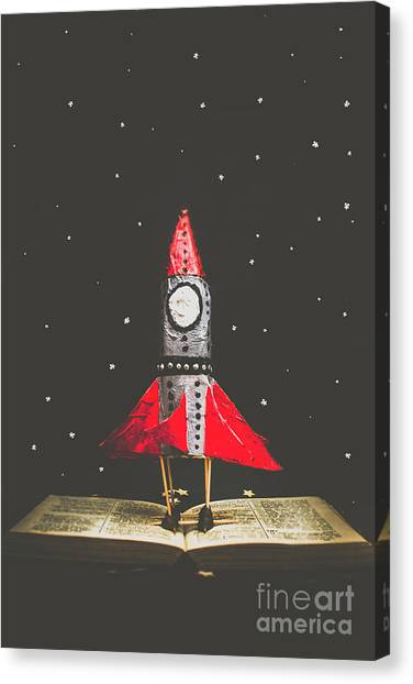 Education Canvas Print - Rockets And Cartoon Puzzle Star Dust by Jorgo Photography - Wall Art Gallery