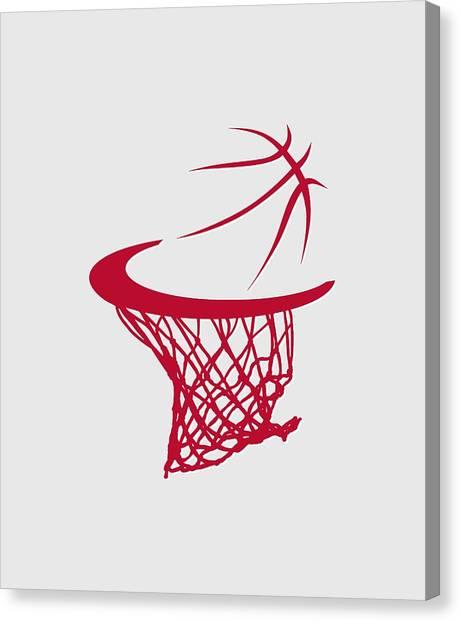 Houston Rockets Canvas Print - Rockets Basketball Hoop by Joe Hamilton
