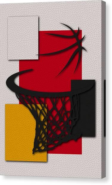 Houston Rockets Canvas Print - Rockets Hoop by Joe Hamilton