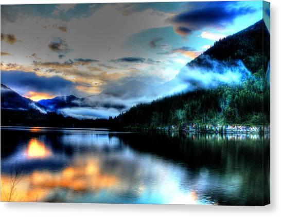 Rockie Mountain Mist Canvas Print