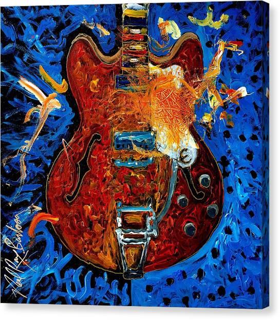 Rockin Epiphone Canvas Print