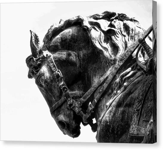 Canvas Print featuring the photograph Rocking Horse by AJ Schibig