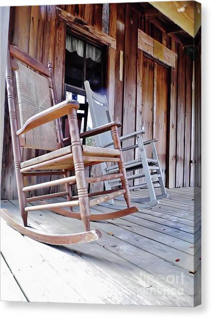 Rocking On The Front Porch Canvas Print