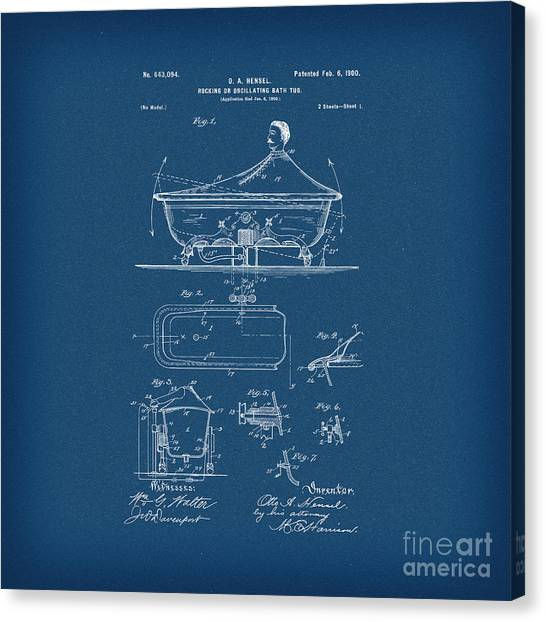 Patent medicine canvas prints page 7 of 7 fine art america patent medicine canvas print rocking oscillating bathtub patent engineering blueprint by pod artist malvernweather Choice Image