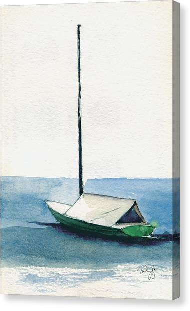 Rockport Boat Study Canvas Print