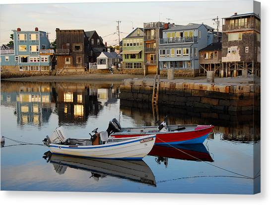 Rockport Boats Canvas Print