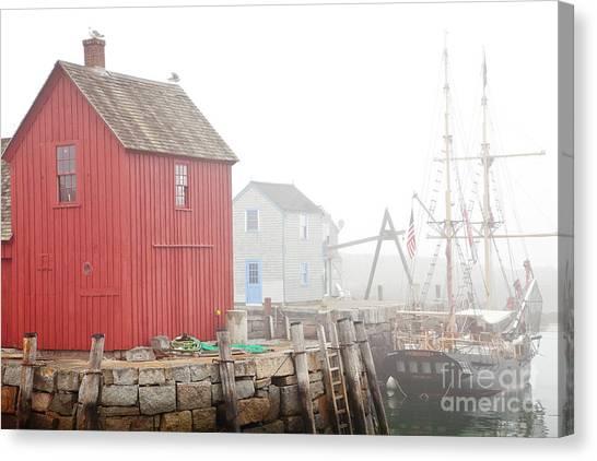 Rockport Fog Canvas Print