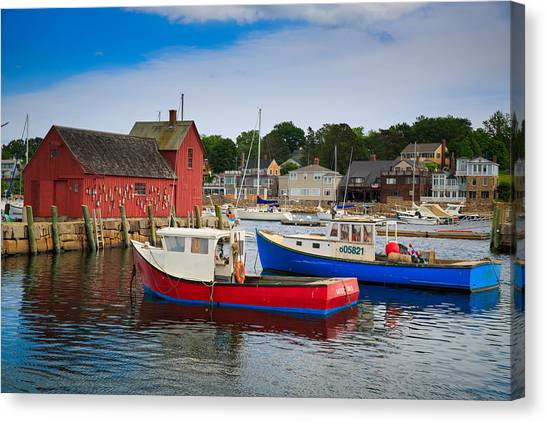 Marthas Vineyard Canvas Print - Rockport Harbor 2 by Emmanuel Panagiotakis