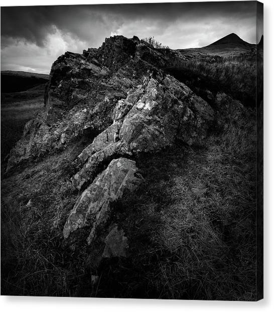 Moorland Canvas Print - Rocks And Ben More by Dave Bowman
