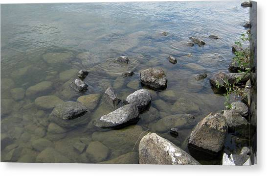 Rocks And Water Too Canvas Print