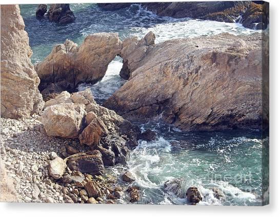 Rocks At Montana De Oro Canvas Print