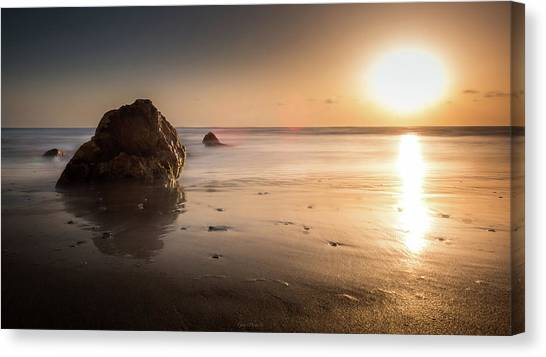 Rocks At Sunset 3 Canvas Print