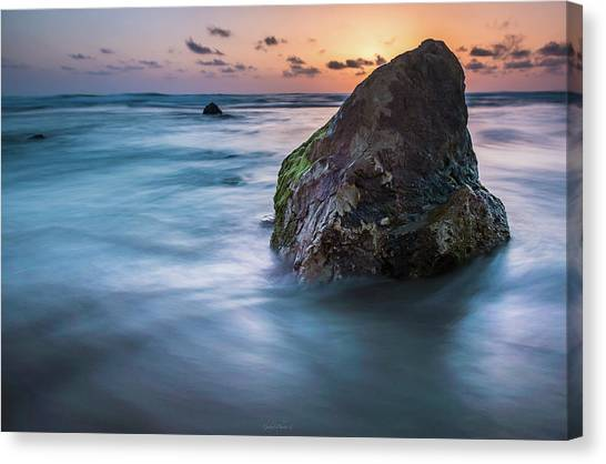 Rocks At Sunset 4 Canvas Print