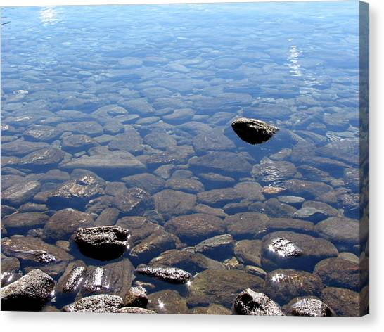 Rocks In Calm Waters Canvas Print