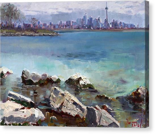 Ontario Canvas Print - Rocks N' The City by Ylli Haruni