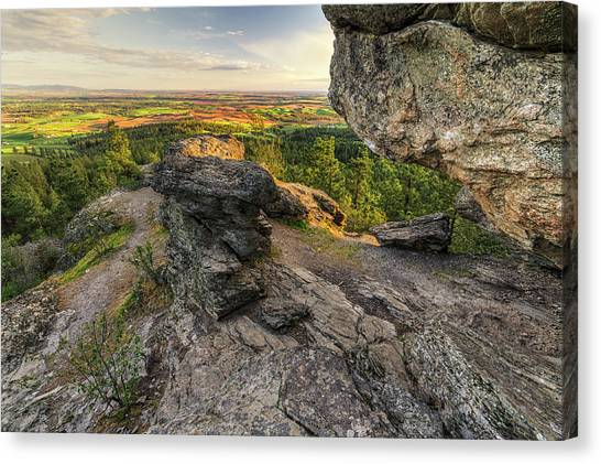 Mountain Caves Canvas Print - Rocks Of Sharon Overlook by Mark Kiver